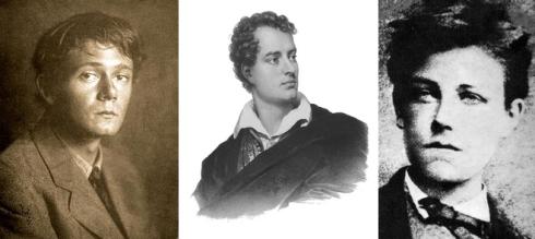 De gauche à droite : Clarke, Byron et Rimbaud