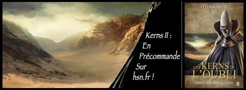 Bandeau d'annonce du Tome 2 des Kerns de l'Oubli